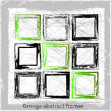 Set abstract grunge frames. Vector backgrounds. Stock Images