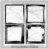 Set abstract grunge frames. Vector backgrounds. Vector illustration. Abstract grunge background. Design elements Royalty Free Stock Photography