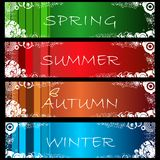 Set of abstract grunge seasonal web banners no. 1. Set of abstract grunge seasonal web banners Stock Photography