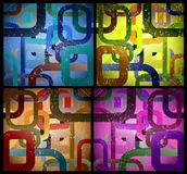 Set abstract grunge square background. Vector Royalty Free Stock Image