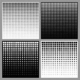Set of Abstract Halftone Backgrounds Royalty Free Stock Photo