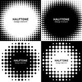 Set of Abstract Halftone Backgrounds Royalty Free Stock Photography