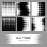 Set of Abstract Halftone Backgrounds. Stock Image
