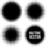 Set of Abstract Halftone Backgrounds. Stock Photos