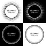 Set of  Abstract Halftone Circles Royalty Free Stock Photography