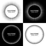 Set of  Abstract Halftone Circles Royalty Free Stock Photography