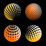 Set abstract halftone 3D spheres_5. Set abstract halftone 3D spheres. Dotted spot vector design elements Stock Photography