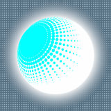 Set abstract halftone 3D spheres. Dotted spot vector design elements Stock Photo