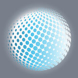 Set abstract halftone 3D spheres. Dotted spot vector design elements Stock Images