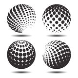 Set abstract halftone 3D spheres_26. Set abstract halftone 3D spheres. Dotted spot vector design elements Stock Photography