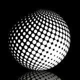 Set abstract halftone 3D spheres_21. Set abstract halftone 3D spheres. Dotted spot vector design elements Royalty Free Stock Photo