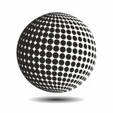 Set abstract halftone 3D spheres_16. Set abstract halftone 3D spheres. Dotted spot vector design elements Stock Images