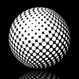 Set abstract halftone 3D spheres_17. Set abstract halftone 3D spheres. Dotted spot vector design elements Stock Image