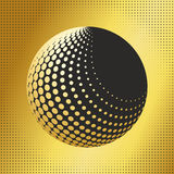Set abstract halftone 3D spheres_32 Royalty Free Stock Photography