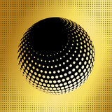 Set abstract halftone 3D spheres_36 Stock Photography
