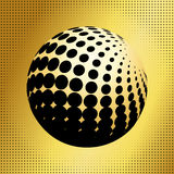 Set abstract halftone 3D spheres_34 Royalty Free Stock Images