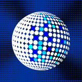 Set abstract halftone 3D spheres_31. Set abstract halftone 3D spheres. Dotted spot vector design elements Stock Photo