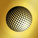 Set abstract halftone 3D spheres_37 Royalty Free Stock Images