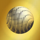 Set abstract halftone 3D spheres_38 Royalty Free Stock Photography