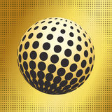 Set abstract halftone 3D spheres_33 Royalty Free Stock Photo