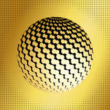 Set abstract halftone 3D spheres_40 Royalty Free Stock Photo