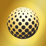 Set abstract halftone 3D spheres_41 Stock Photography
