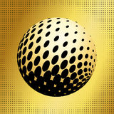 Set abstract halftone 3D spheres_35 Royalty Free Stock Photo