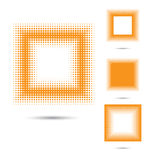 Set of abstract halftone design elements, square shape. Stock Photo