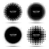 Set of Abstract Halftone Design Elements Royalty Free Stock Image