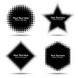 Set of Abstract Halftone Design Elements Stock Photo