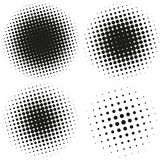 Set of Abstract Halftone Design Elements Royalty Free Stock Photography