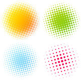 Set of Abstract Halftone Design Elements Royalty Free Stock Photos