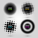 Set with abstract halftone design elements. Vector illustration. EPS 10 Stock Images