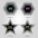 Set with abstract halftone design elements. Vector illustration. EPS 10 Stock Photo