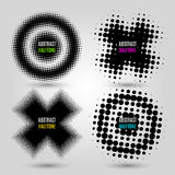 Set with abstract halftone design elements. Vector illustration. EPS 10 Royalty Free Stock Image