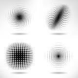 Set of Abstract Halftone Design Elements Stock Image
