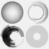 Set of Abstract Halftone Design Elements, vector Stock Image