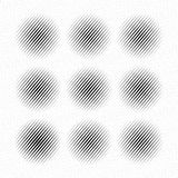 Set of Abstract halftone dotted circles, vector Stock Photography