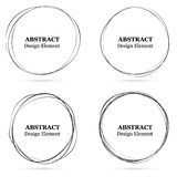 Set of abstract hand drawn circles for your design. Scribble cir. Cle lines vector. Black circular doodle isolated on the white background. Vector abstract logo vector illustration
