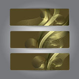 Set of abstract headerS Royalty Free Stock Photography