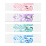 Set of abstract headers stock illustration