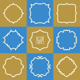 Set of abstract hipster logo badges frames Stock Photos