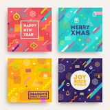 Set of abstract Christmas background Stock Photography