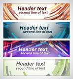 Set of abstract horizontal banners. Stock Image