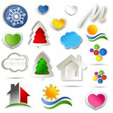 Set of Abstract icon design. Colorful illustration over white background Royalty Free Stock Photo