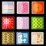 Set of abstract icon vector Royalty Free Stock Photos