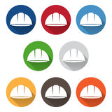 Set of abstract icon vector template of worker helmet. Set of abstract icon vector design template of worker helmet vector illustration