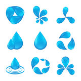 Set abstract icon waters designs Royalty Free Stock Images
