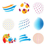 Set of abstract icons Royalty Free Stock Image