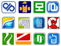 Set of abstract icons Stock Photos